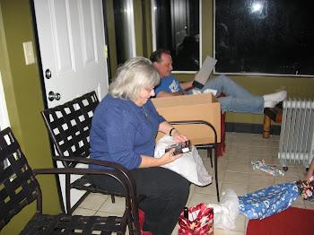 Gram opens her gift