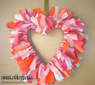 AnnaVirginia Fashion: Valentine's Heart Wreath