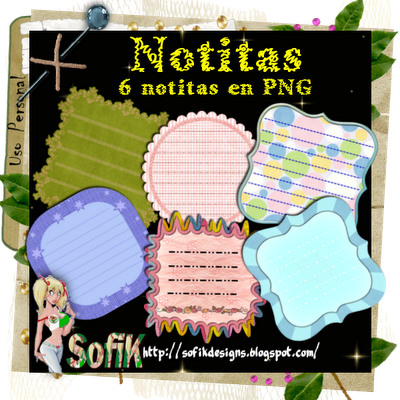 scrap digital notitas para imprimir
