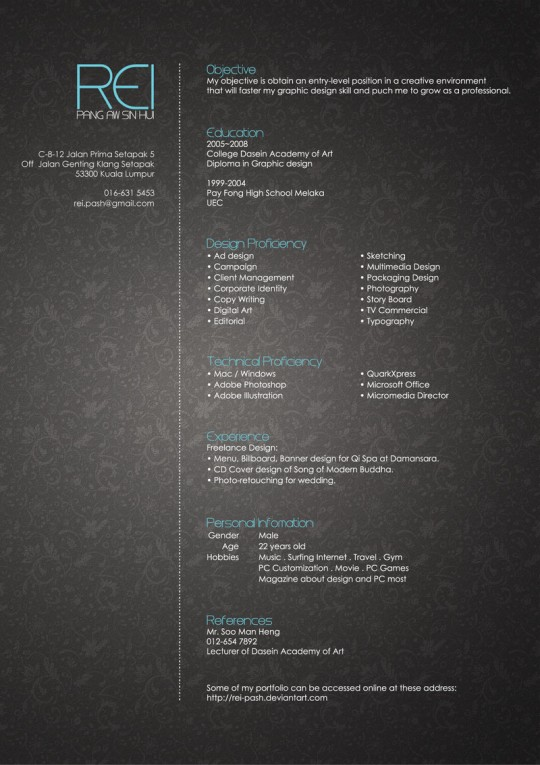 Really cool resume designs