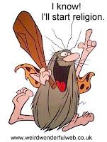 Image-Caveman starts religion