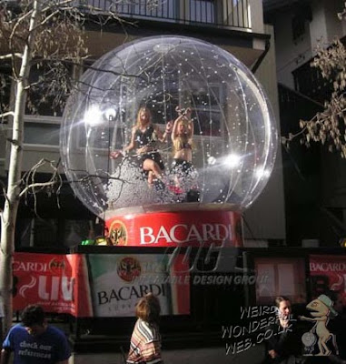 IMAGE: Large inflatable snow globe