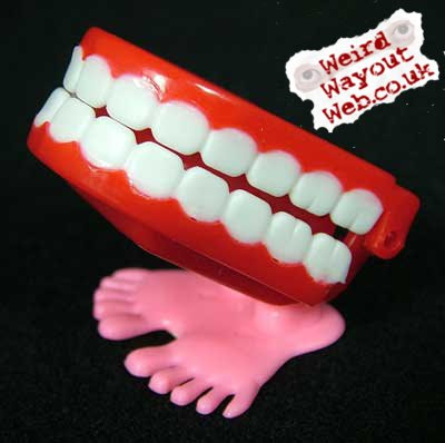 IMAGE: Toy walking teeth