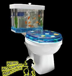 IMAGE: Toilet and aquarium combo