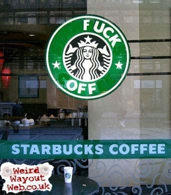 IMAGE: Starbucks logo defaced
