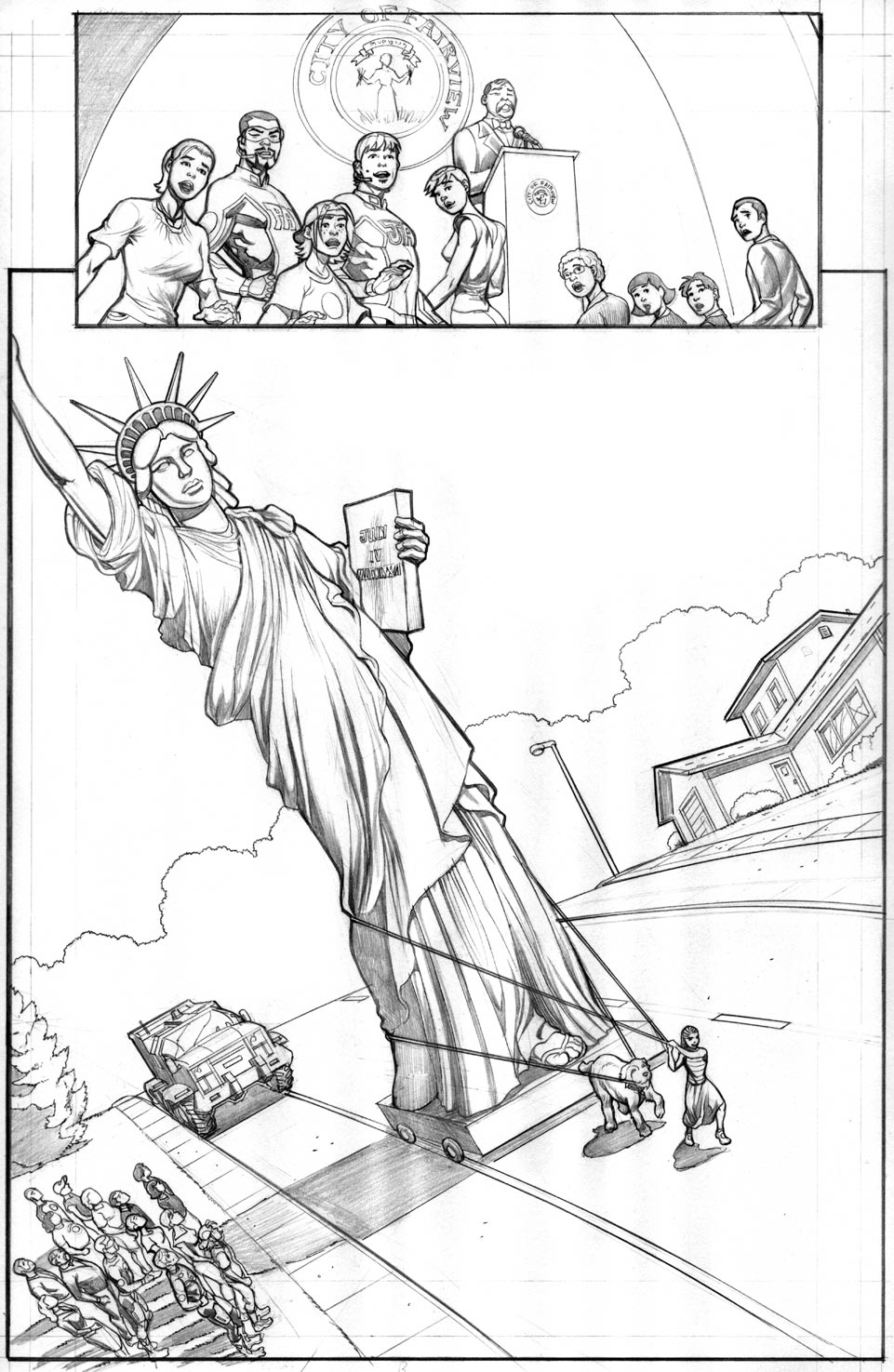 videos of how to draw the statue of liberty
