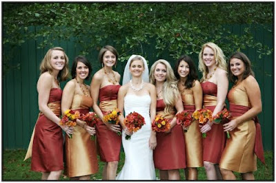 Fall Wedding Outfits on Marie  Inspiration For Your Fall Wedding  Custom Bridesmaid Dresses