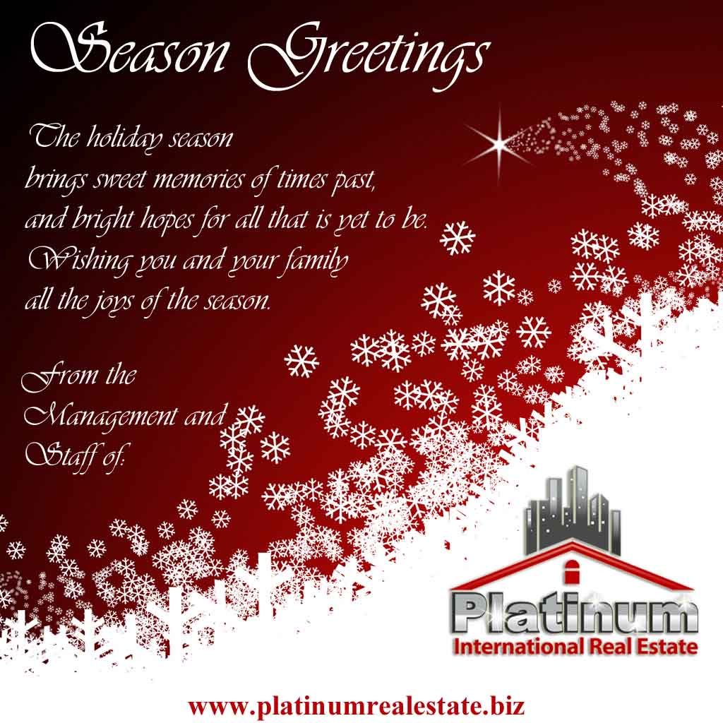 Platinum international real estate and investments belize division season greetings from the management and staff of platinum international real estate m4hsunfo