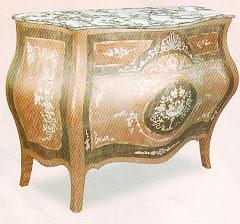 (18)بايوه مكوش3درج من الخشب الزان والسويد والقشره الطبيعيه ومارتيكليه يدوي