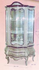 (27)فاترينه 3 درج صدف حر ياباني من الخشب الزان والسويد صناعه يدويه بالزجاج كامل التشطيب
