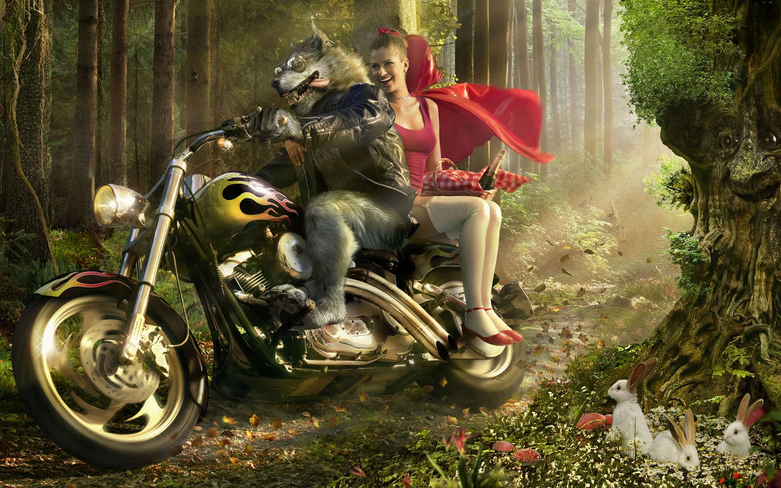 strictly wallpaper grown up 3d fairy tale wallpapers