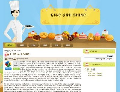 templates bay download rise and shine blogger template