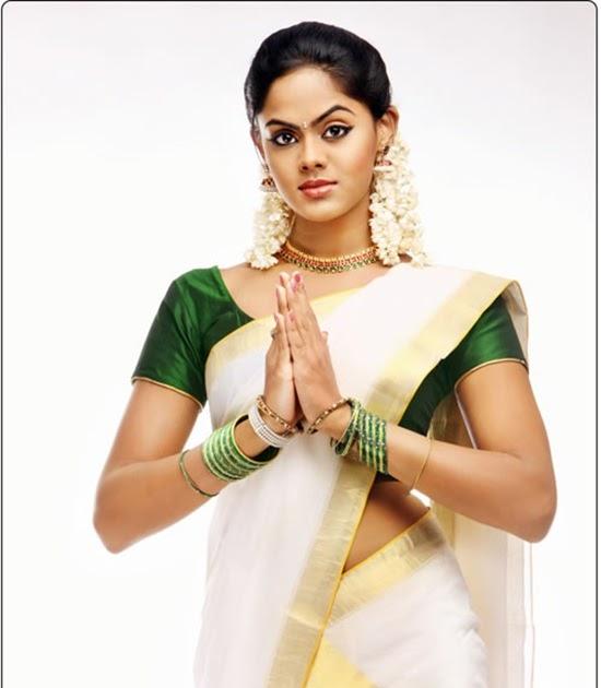 kathika nair cute in kerala saree  picture gallery