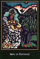 Sibyl of Pentacles World Spirit Tarot