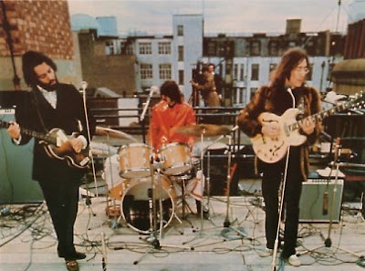 Beatles, Fab Four, John Lennon, Paul McCartney, George Harrison, Ringo Starr, Rooftop, 1969
