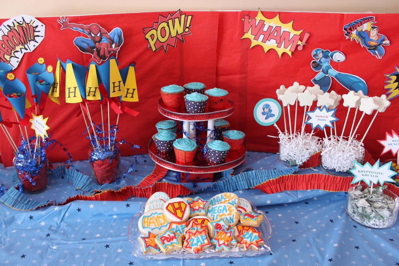 Dandy Delights Custom Cookie Creations A Superhero Party For My Little