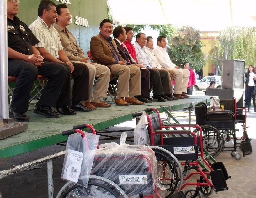 Teotihuacan en l nea entregan sillas de ruedas y material for Sillas para vigilantes