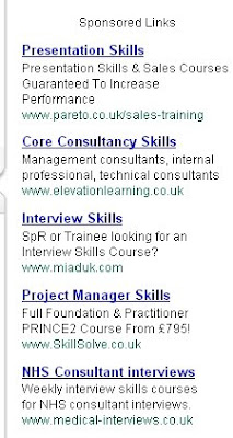 gmail text ad showing training providers