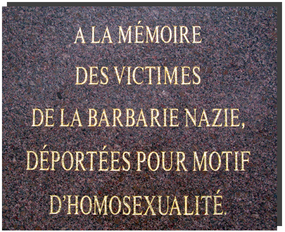 A plaque in memory of the deportees to the camp gay unveiled Struthof