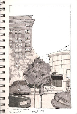 Value Sketch using grey-scale markers by Steve Penberthy