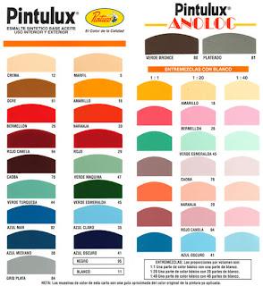 Cartas de colores pintuco para interiores imagui for Tabla de colores pintura interior