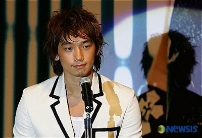 Korean pop star, Rain,  dons on ninja wear as a nod to his new leading role in the Wachowski brother's Ninja Assassin