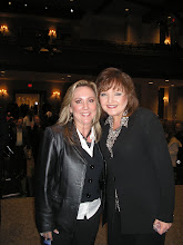 Deborah poses with Karen Wheaton
