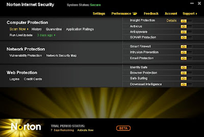 Norton Internet Security 2011 Free Beta
