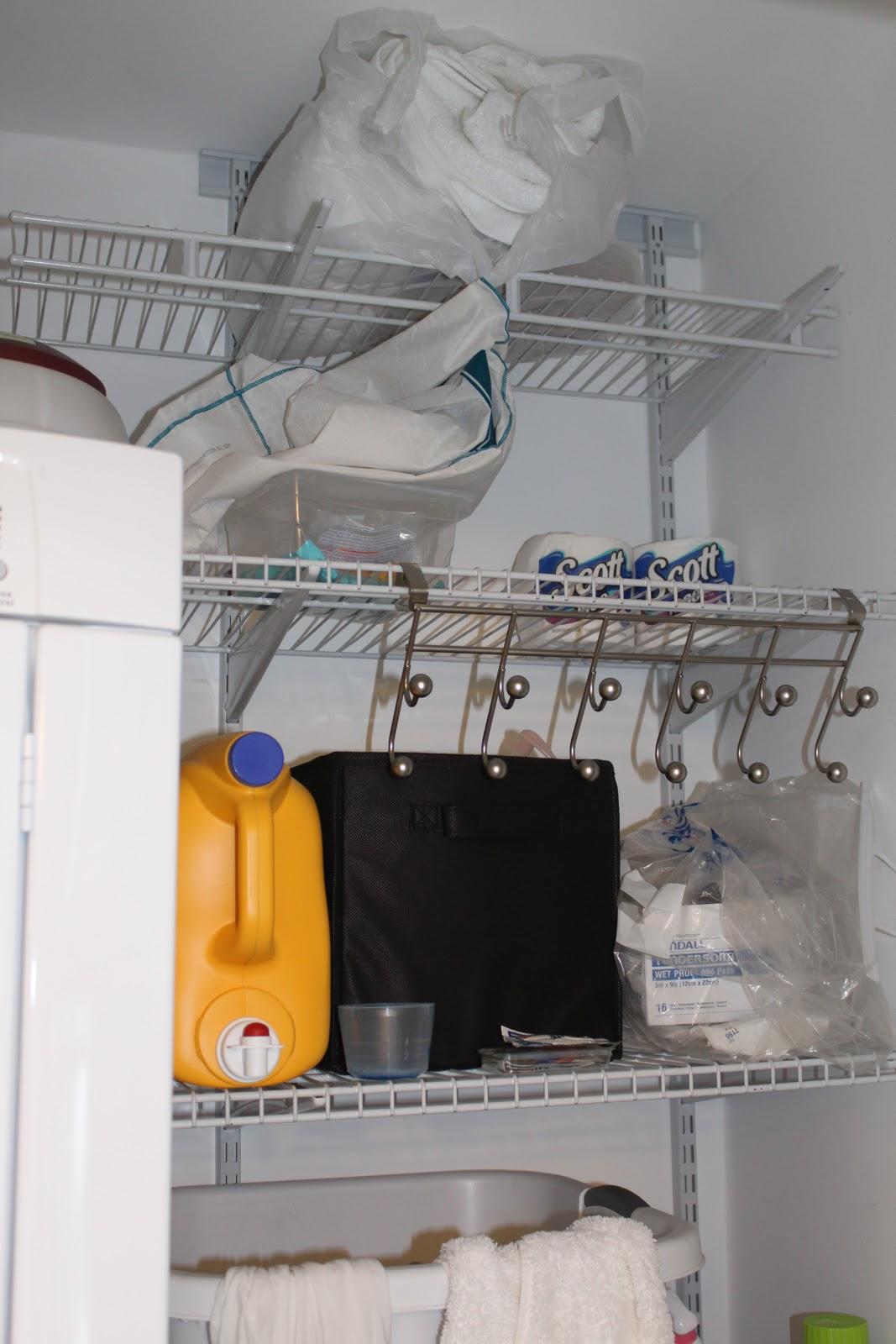 Tizzi Lish: Bathroom Closet/Laundry Organizing