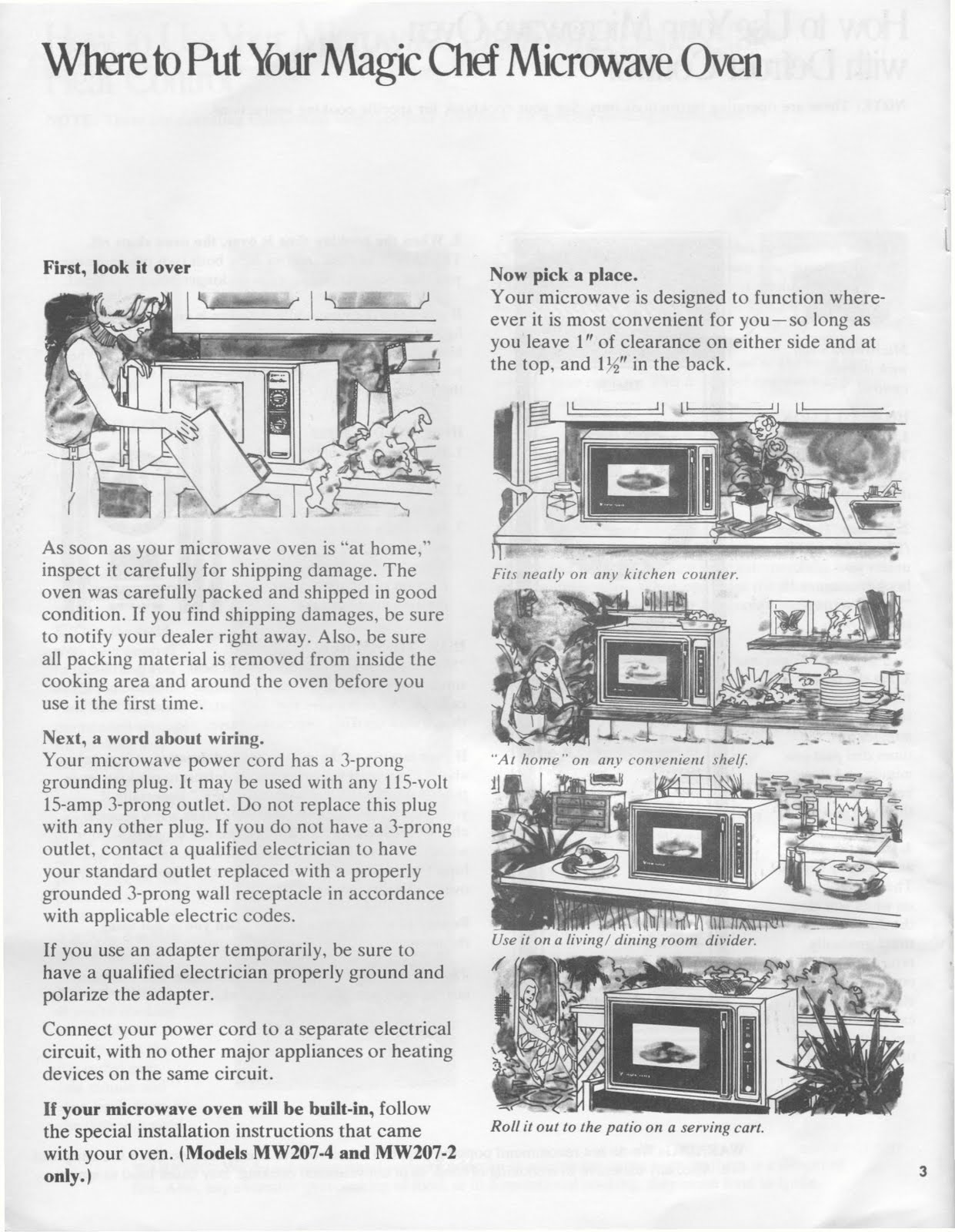 Magic Chef 200 Series Microwave Manual