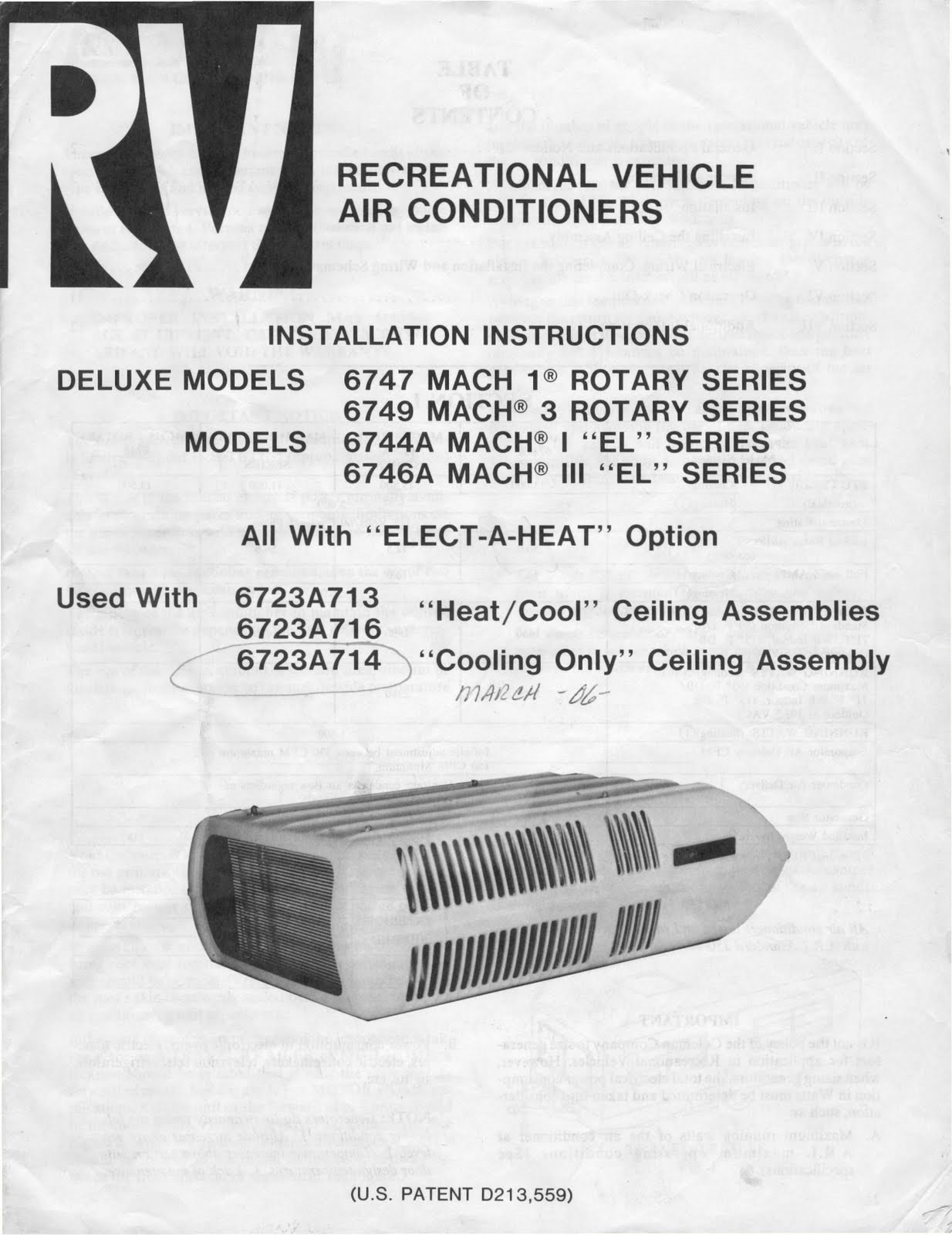 1983 Fleetwood Pace Arrow Owners Manuals: RV Air Conditioners ...