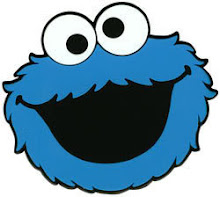 Bright image with printable cookie monster face
