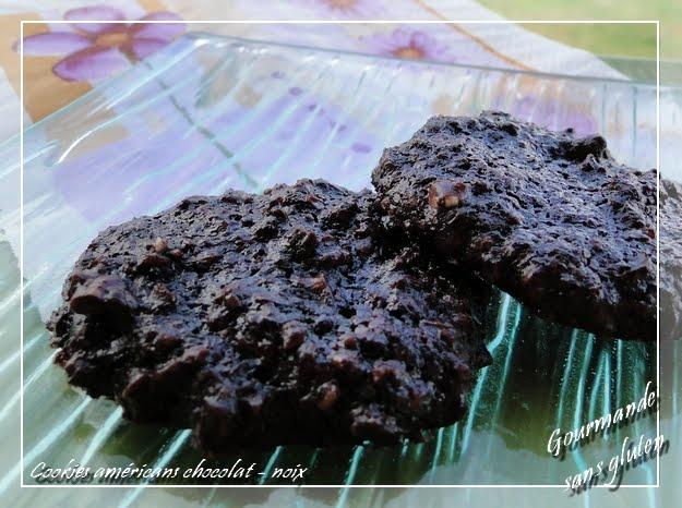Cookies américains chocolat sans gluten