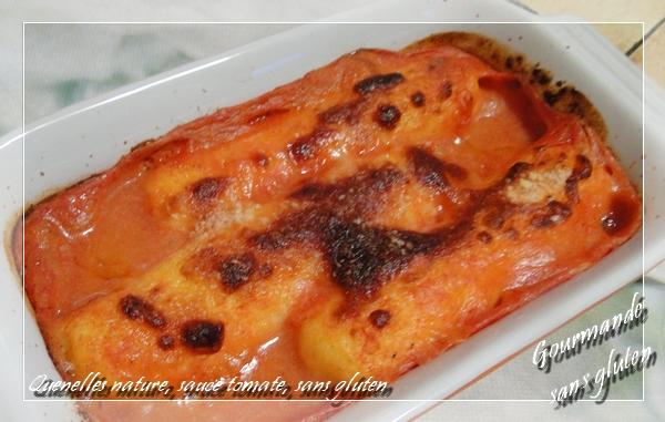 Quenelles lyonnaises, sauce tomate, sans gluten