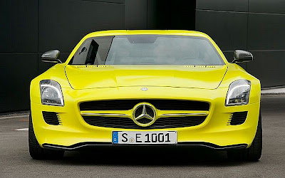 yellow Mercedes Benz car picture