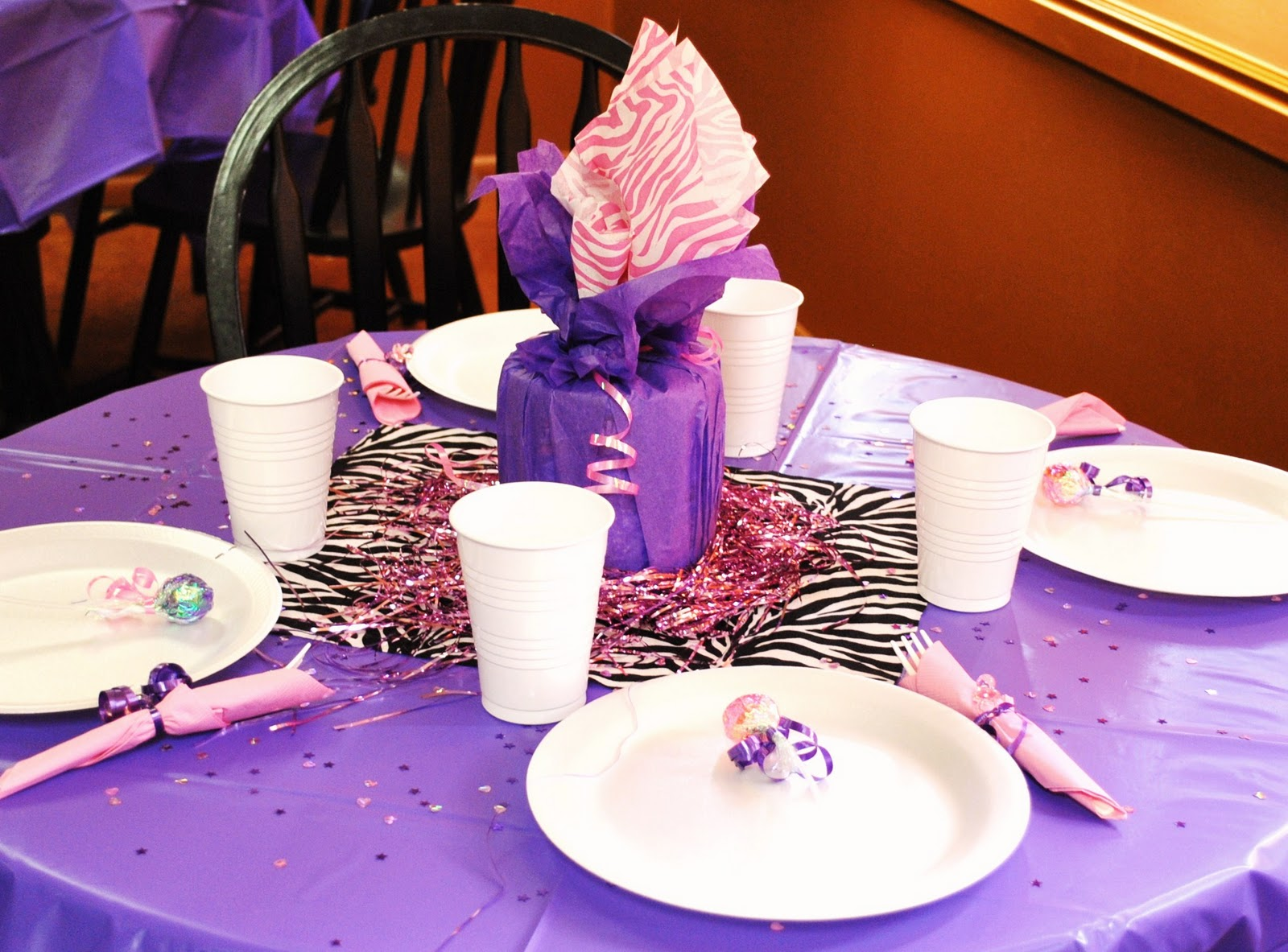 ... and Dragonflies: Purple Zebra Baby Shower and fancy caramel apples