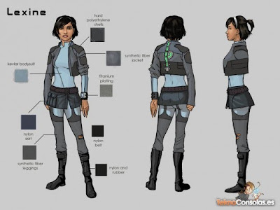 Lexine blueprints. It says nothing here about her odd Scottishness