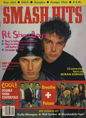 Pet Shop Boys on old cover of Smash Hits
