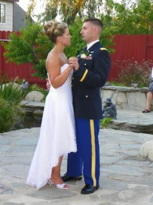 I nearly lost it emotionally upon seeing the groom in his military dress
