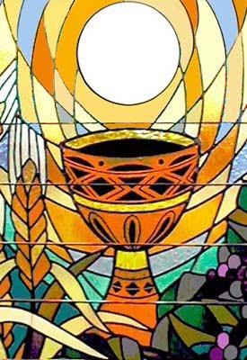 Chapelet de la Lumière Vitrail+eucharistie