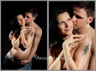 Sensuaalne lapseootus foto koos kaaslasega, tume taust