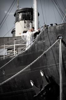 Pulmafoto Titanic stiilis. Tallinna Lennusadam.