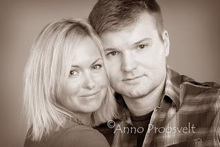 Sepia portree.Mees ja naine. Fotostuudio  Fotopesa Tallinnas