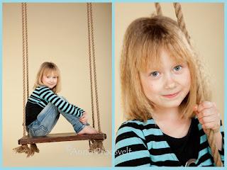 Tüdruk kiigel, tüdruku portree. Fotostuudio  Fotopesa Tallinnas