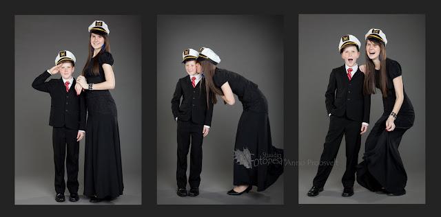 õde ja vend meremehe mütsidega