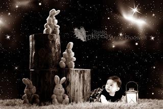 fotostuudio beebi  ja tähistaevas