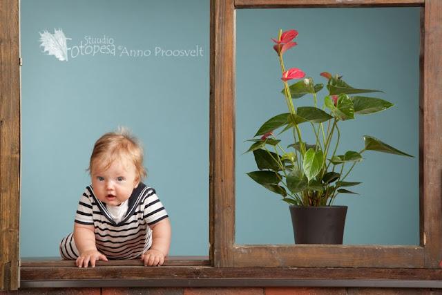 Fotostuudio, beebi aknal