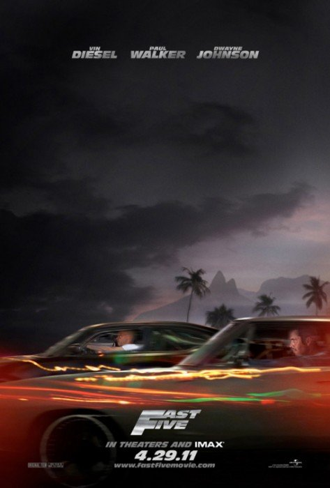 fast five official poster. Fast and Furious 5 Movie