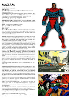 Maxam Ficha Marvel