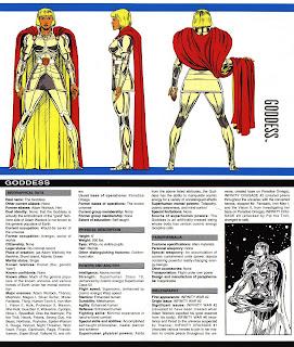 Diosa ficha marvel comics